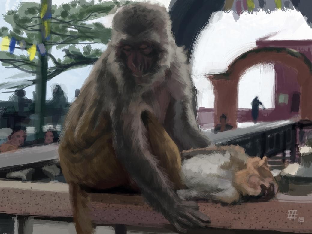 Death at the Monkey Temple (Kathmandu)
