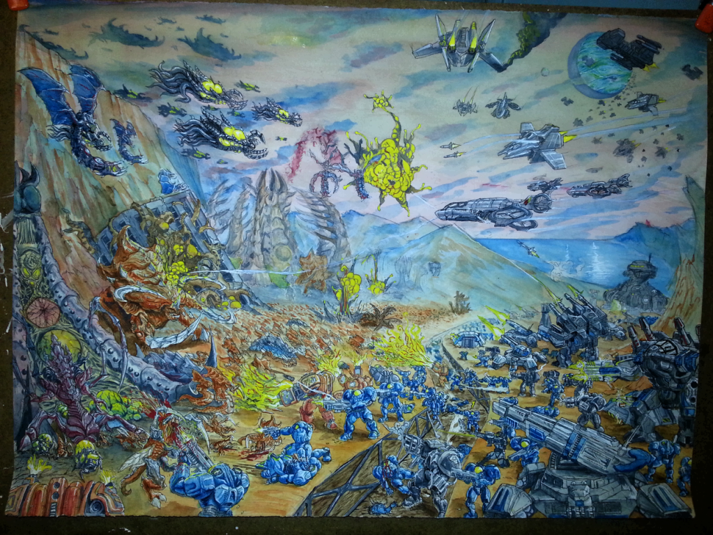 Starcraft 2 Watercolor